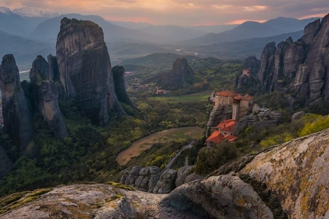 Breath Taking meteora sunset