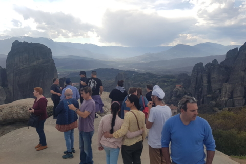 Breath-taking Meteora Sunset