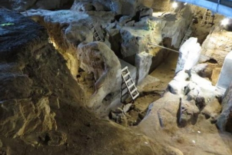 Pre-historical cave of Theopetra